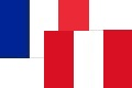 Drapeau france perou six 120x80
