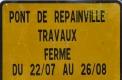 Travaux pont repainville ferme a 22x80
